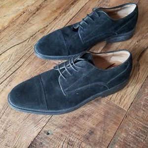 Joseph A Banks Black Suede shoes